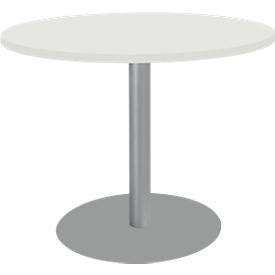 Tafel met schotelvoet, Ø 1000 x H 717 mm, wit
