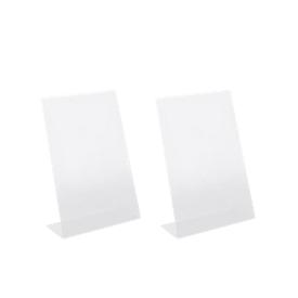 Tafelstandaard, acryl, schuin, A5, 2 stuks