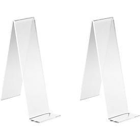 Tafelstandaard, glashelder PLEXIGLAS®, 110 mm hoog, 2 stuks