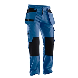 Tailleband broek Jobman 2312 PRACTICAL, met kniezakken & holsterzakken, blauw I zwart, maat 48