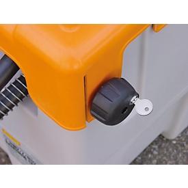 Tapa abatible con llave para depósito portátil CEMO lubricante y DT-Mobil Easy hasta 200l, incl. 2 llaves