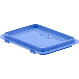 Tapa con gancho EF-DH 21 para caja con dimensiones norma europea, azul