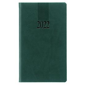 Taschenkalender Tucson, 128 Seiten, B 90 x H 155 mm, Werbedruck 60 x 40 mm, grün, Auswahl Werbeanbringung erforderlich