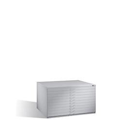 Tekeningkast van staal, voor formaten tot A0, 10 schuifladen