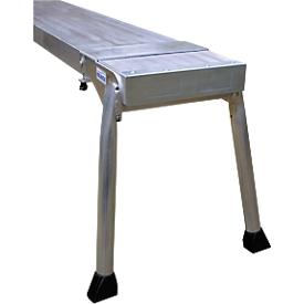 Teleboard, van aluminium, lengte 3 meter, incl. board stand