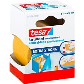 tesa® Dubbelzijdige knutseltape, 38 mm x 2,75 m, wit, 6 rollen