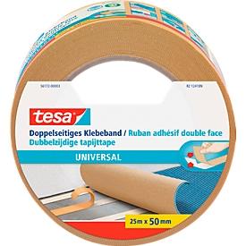 tesa® dubbelzijdige tape universeel, 25 m x 50 mm, wit, 6 rollen