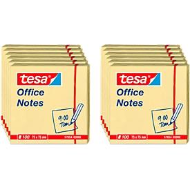TESA Haftnotizen Office Notes, 75 mm x 75 mm, 4 x 3 x 100 Blatt, gelb