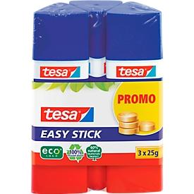Tesa Klebestift Easy-Stick 2+1 gratis á 25gr, ohne Lösungsmittel für Pappe etc.