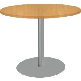 Tisch mit Tellerfuß, ø 1000 x H 717 mm, Kirsche-Romana