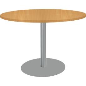 Tisch mit Tellerfuß, ø 1200 x H 617-817 mm, Kirsche-Romana