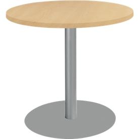 Tisch mit Tellerfuß, ø 800 x H 717 mm, Buche