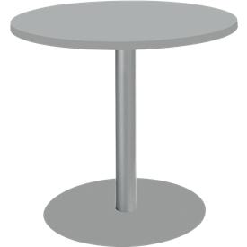 Tisch mit Tellerfuß, ø 800 x H 717 mm, lichtgrau