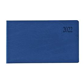 Tisch- und Taschenkalender Sidney, 128 Seiten, B 150 x H 90 mm, Werbedruck 60 x 30 mm, blau, Auswahl Werbeanbringung optional