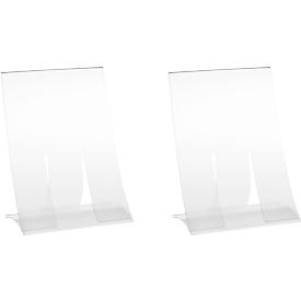 Tischaufsteller, Hartplastik, klappbar, DIN A6, 2 Stück