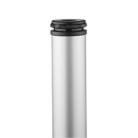 Tischbeine, Rundrohrfuß, H 700 mm, weißaluminium
