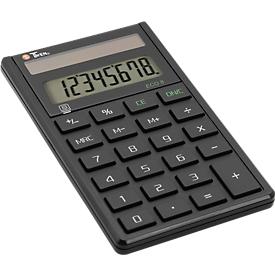Tischrechner Twen Eco 8, solarbetrieben, 8-stelliges Display, 37 g, Vorzeichenwechsel, 1 Speicher