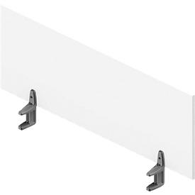 Tischtrennwand ARLON-OFFICE, 1200 mm , weiß