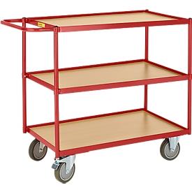 Tischwagen mit 3 Etagen, 790 x 490 mm