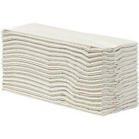 Toallas de papel plegadas, 2 capas, pliegue en C, blanco natural, 2400 hojas
