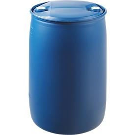 Ton met doppen, 220 liter, HDPE, Ø 581 x H 935 mm