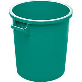 Tonel, de HDPE, apilable 35l, verde