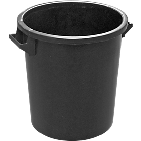 Tonne, aus HDPE, stapelbar 35 Liter, schwarz