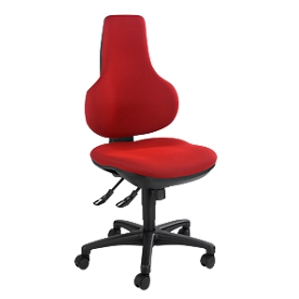 Topstar Bürostuhl ERGO POINT, Synchronmechanik, ohne Armlehnen, Spezial-Bandscheibensitz, rot