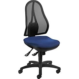 Topstar bureaustoel OPEN POINT SY, synchroonmechanisme, zonder armleuningen, ergonomisch gevormde wervelsteun, blauw