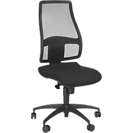 Topstar bureaustoel Syncro Net, synchroonmechanisme, zonder armleuningen, gazen rugleuning, ergonomisch gevormde wervelsteun, zwart