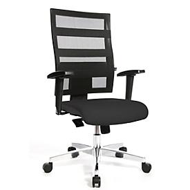 Topstar X-PANDER bureaustoel, met armleuningen, netrugleuning met elastische rubberen banden