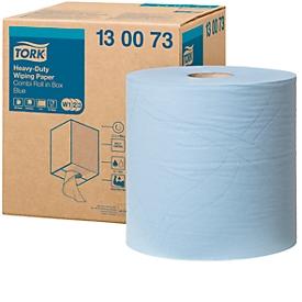 TORK® Advanced 430 multipurpose papieren poetsdoek, 2-laags, 260 x 340 mm, extra sterk, blauw, 1 rol
