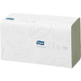 TORK®Advanced handdoekjes, zigzagvouwen, 2-laags, 3750 vellen, groen