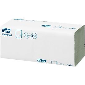 TORK® Handdoekken Universal, zig-zag gevouwen, 1-laag, groen, L 250 x B 230 mm, 4000 vellen