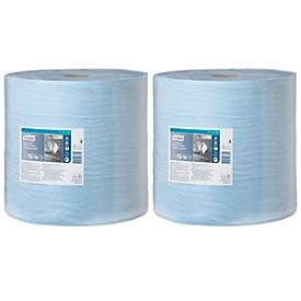Tork Reinigungstücher, 3-lagig, TAD-Papierqualität, 370 x 340 mm je Blatt, blau, 2 Rollen