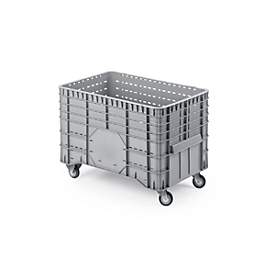 Transport- und Stapelgroßbehälter, fahrbar, 300 l