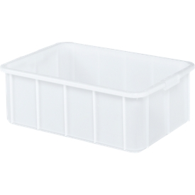 Transportbak, geschikt voor levensmiddelen, hoge-dichtheid polyethyleen (HDPE),L 600 x B 355 x H 210 mm, 35 liter, wit