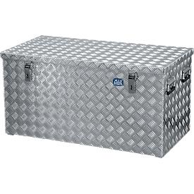 Transportkiste, Aluminium-Riffelblech mit Gasdruckdämpfer, 250 l