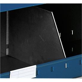 Trennblech Typ A für Lagerwanne, T 385 x H 120 mm