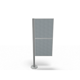 Trennwand Silent Office, 2 Elemente, H 1470 mm, hellgrau