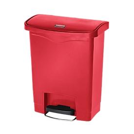 Tretabfalleimer Slim Jim®, Kunststoff, Fassungsvermögen 30 Liter, rot