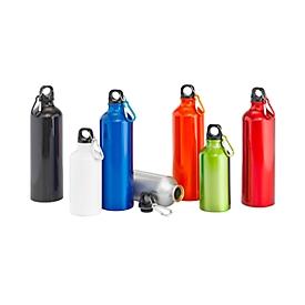 Trinkflasche, Weiß, Standard, Auswahl Werbeanbringung optional