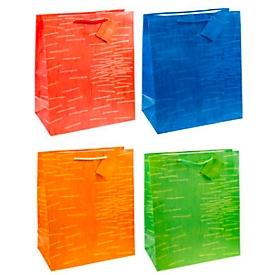 TSI cadeauzakje Laura, XXL groot, 26 x 13,5 x 32 cm, scheurvast, set van 12 verschillende kleuren