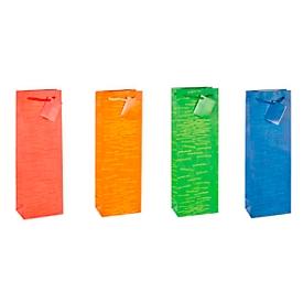 TSI Kadotas Laura, voor flessen, 12 x 8 x 36 cm, scheurvast, set van 12 verschillende kleuren