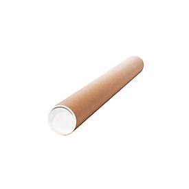 Tubo de envío de cartón, 430 x 60 x 2,0 mm, 50 piezas