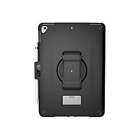 UAG Rugged Case for iPad 10.2-in (7/8 Gen, 2019/2020) - Scout w/ Handstrap Black - hintere Abdeckung für Tablet