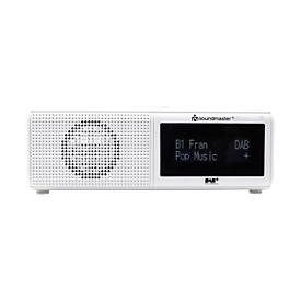 Uhrenradio Soundmaster UR8350WE, DAB+/UKW-RDS, m. Weck-/Einschlaf-Funktion, USB-Wiedergabe, weiß