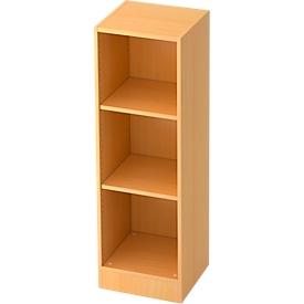 ULM boekenkast, 3 OH, spaanplaat, B 406 x D 400 x H 1270 mm, beukendecor