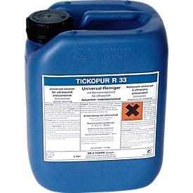 Ultrasoon reinigingsconcentraat TICKOPUR R 33, mild alkalisch, met corrosiebescherming, canister 5 l