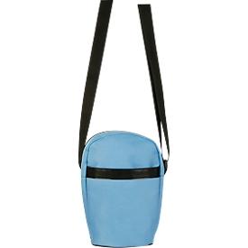 Umhängetasche CITY, Kunstsoff,  Schultergurt längenverstellbar, Werbedruck 80 x 80 mm, blau